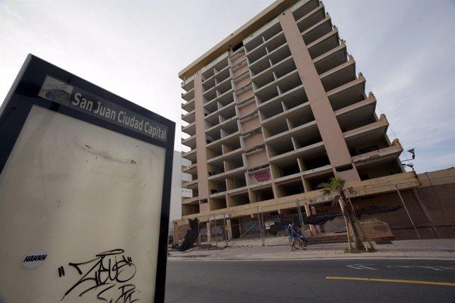 Hotel abandonado en San Juan de Puerto Rico