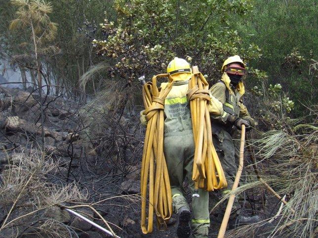 Incendio en Palmés (Ourense)