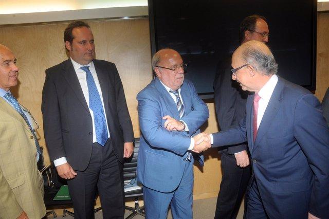 Sota con el ministro en el CPFF