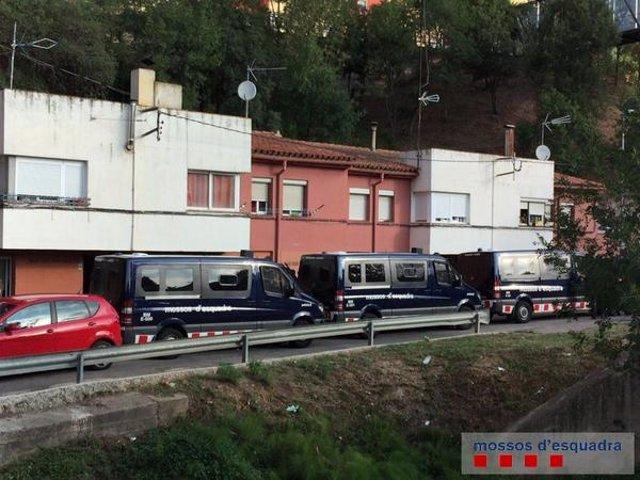Operación de Mossos Esquadra contra la droga en Girona