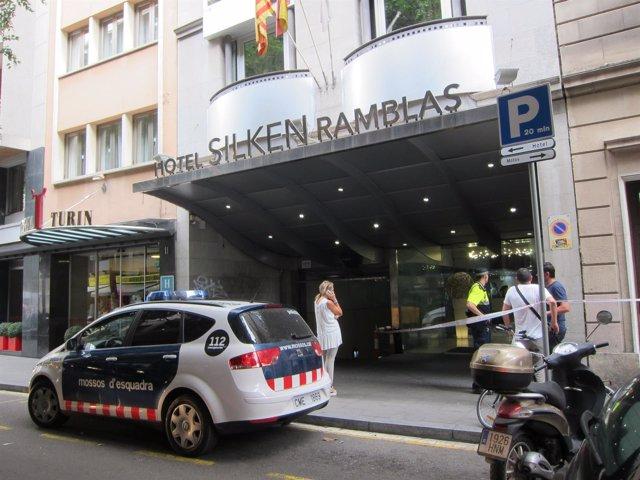 Tiroteo en la Rambla. Hotel Silken