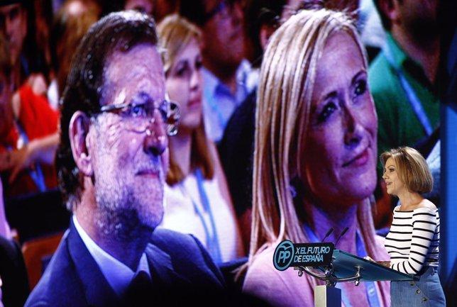 Cospedal, Rajoy y Cifuentes