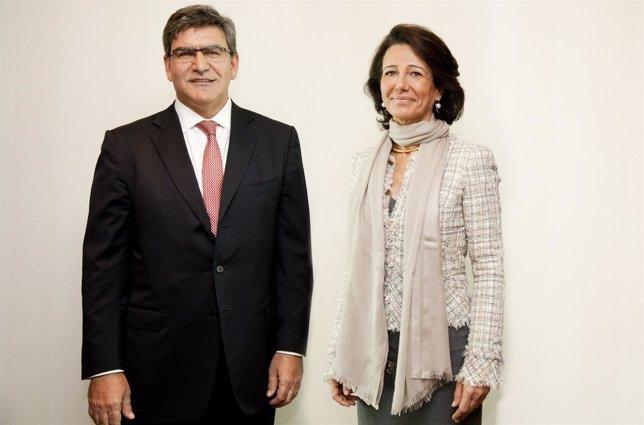 José Antonio Álvarez y Ana Botín