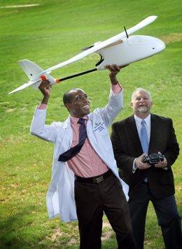 Drones para trasportar muestras de laboratorio