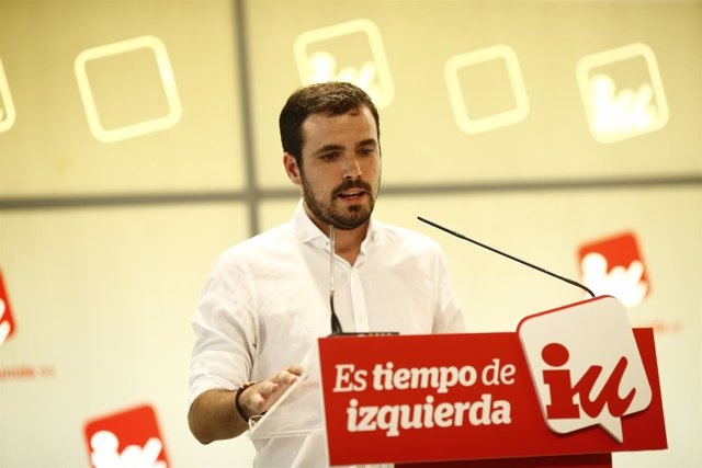 Alberto Garzón presenta la propuesta un Nuevo país