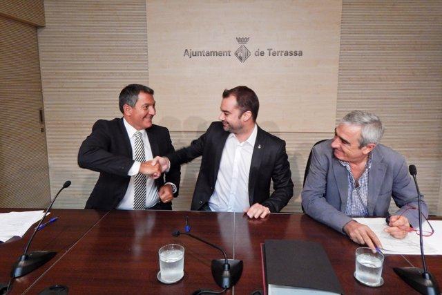 Miquel Sàmper, Jordi Ballart y Alfredo Vega