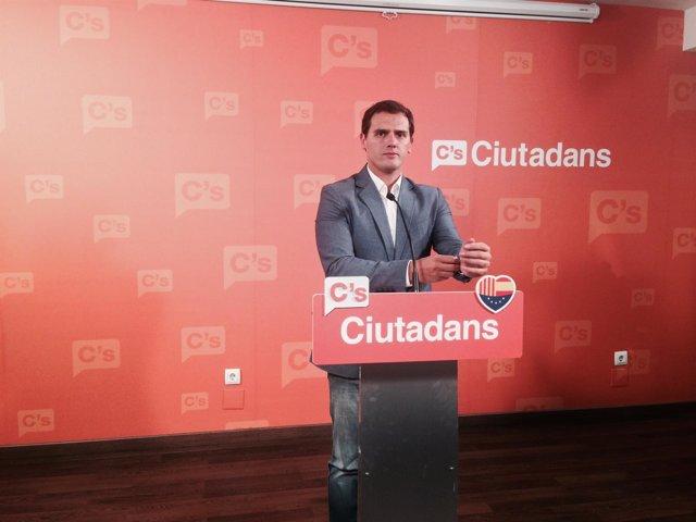 El líder de C's, Albert Rivera