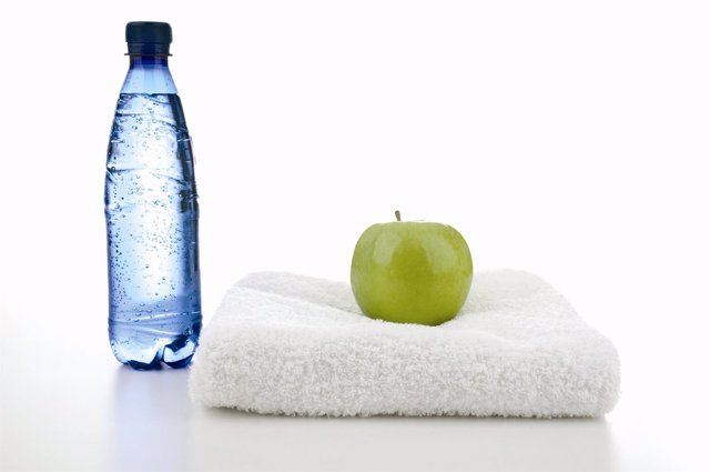 Agua, saludable, sano, manzana,