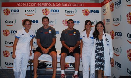HM Hospitales realiza el reconocimiento médico de la selección absoluta de baloncesto