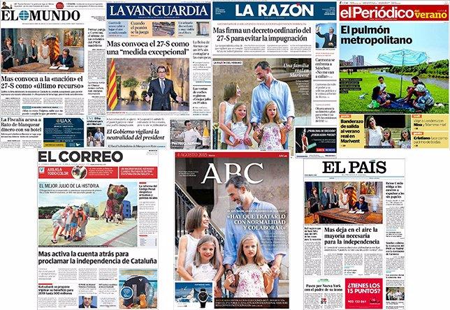 Diarios de España (4 de agosto)