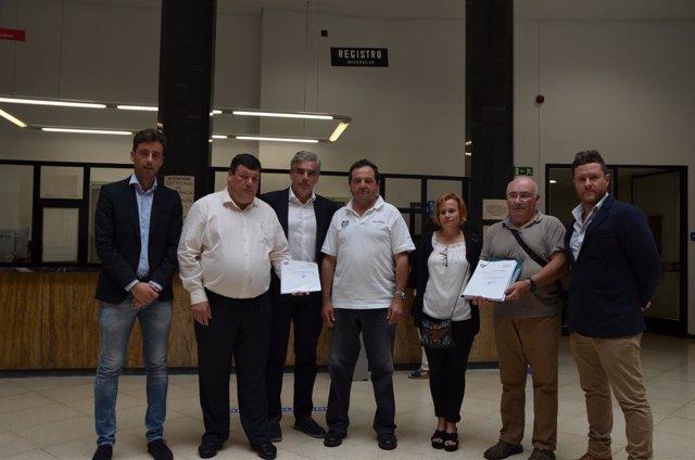 Registro de las peticiones en el Ayuntamiento
