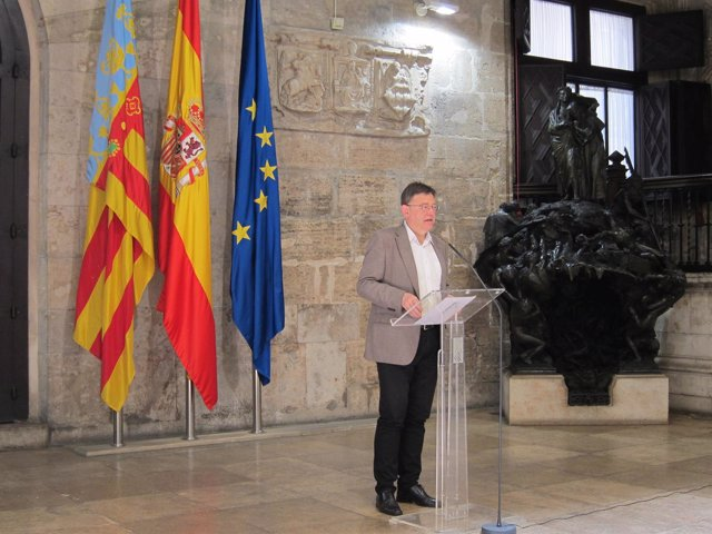 Ximo Puig en un momento de su intervención