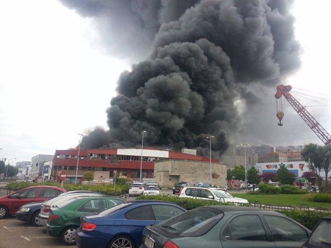 Incendio en Freiremar (Vigo)