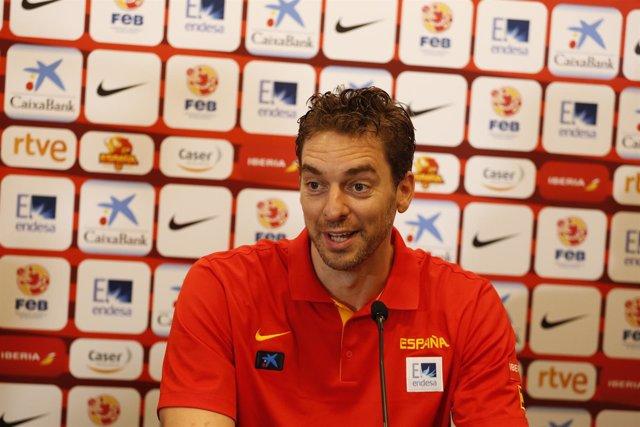 Pau Gasol, Selección Española rueda de prensa