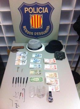 Objetos intervenidos a ladrones en Girona