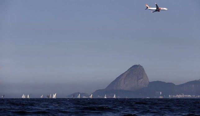 Río de Janeiro bahía, pruebas para los Juegos Olímpicos