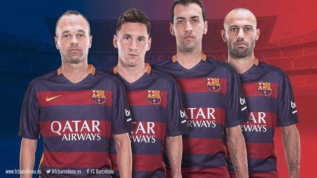 Iniesta, Messi, Sergio Busquets Mascherano Barcelona