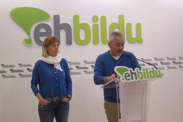 Josu Unanue y Miren Larrion (EH Bildu)