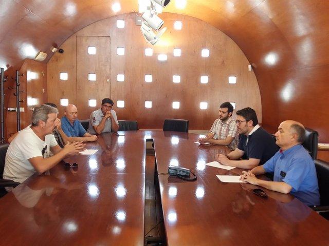 Sánchez y Meca con Cs Lorca y Asamblea Vecinos de Lorca Afectados por Terremoto