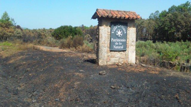 Incendio de Sierra de Gata