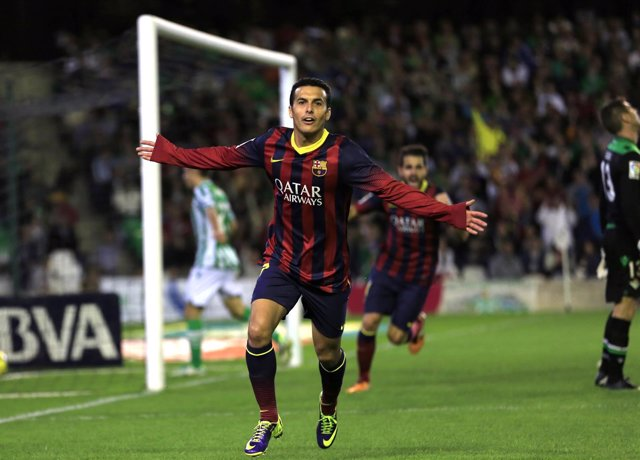 Pedro, con el FC Barcelona