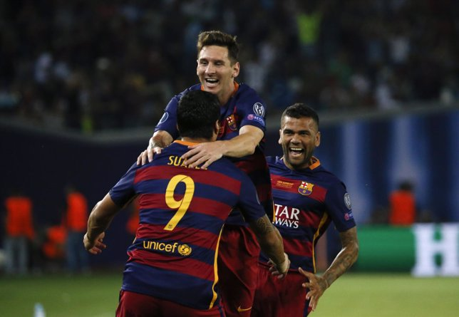 Messi, Luis Suares, Barcelona, Supercopa