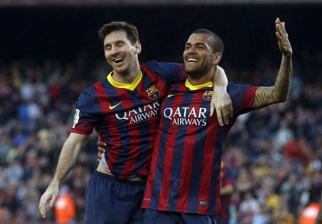 El lateral derecho del FC Barcelona Dani Alves