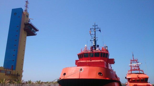 Servicio de Salvamento Marítimo en el Puerto de Almería