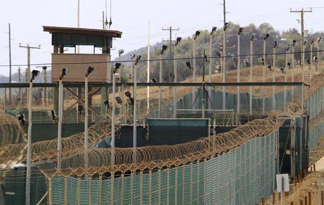 The exterior of Camp Delta is seen at the U.S. Naval Base at Guantanamo Bay