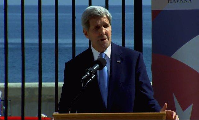 John Kerry reapertura embajada cuba
