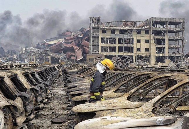 Nuevas explosiones en el almacén químico de Tianjin