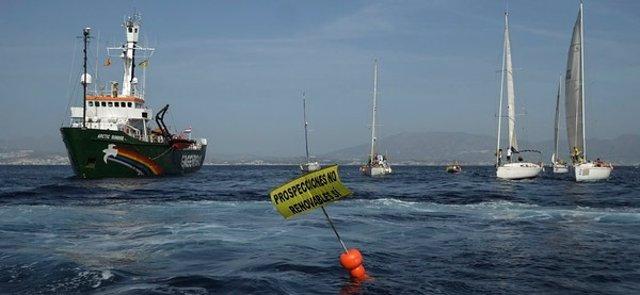 Greenpeace, Prospecciones Costa del Sol, Mar de Alborán, Mijas, Gas