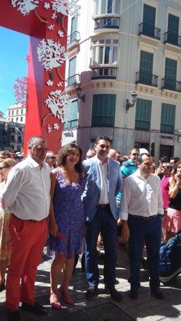 Javier Carnero, Monsalud Bautista delegada, consejero turismo y ruioz espejo f