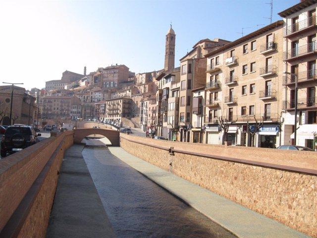 Vista De Tarazona  Y Río Queiles, Zaragoza