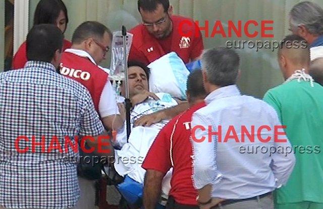Fran Rivera llegando al hospital