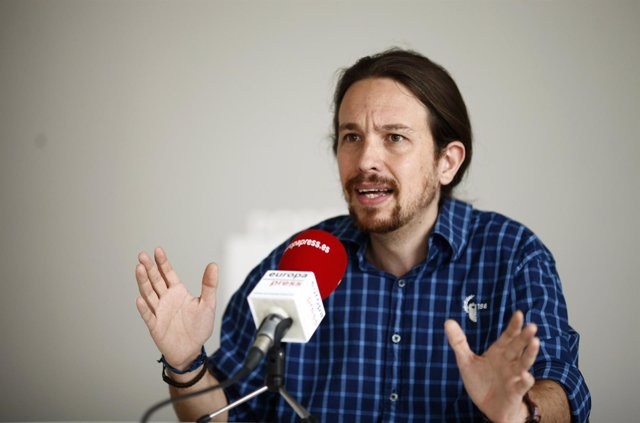 Pablo Iglesias concede una entrevista a Europa Press