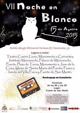 Cartel de la séptima edición de la Noche en Blanco