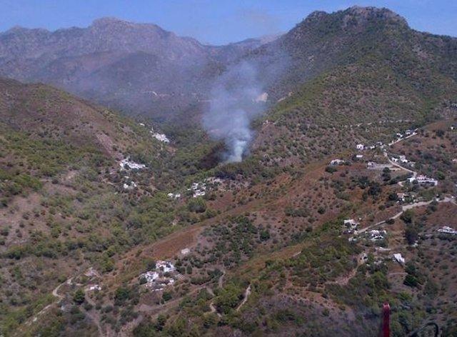Incendio frigiliana málaga agosto 2015 fuego