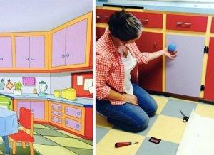 Recrean la cocina de Los Simpsons en su casa