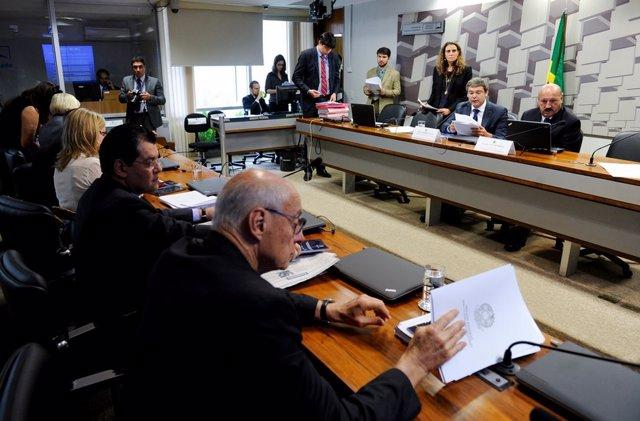 Sala de Comisiones del Senado de Brasil