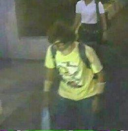 Imagen del sospechoso del atentado de Bangkok
