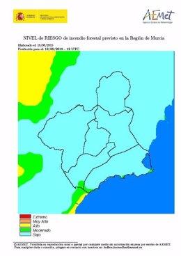 El riesgo de incendios forestales es moderado en zonas del Litoral y Guadalentín