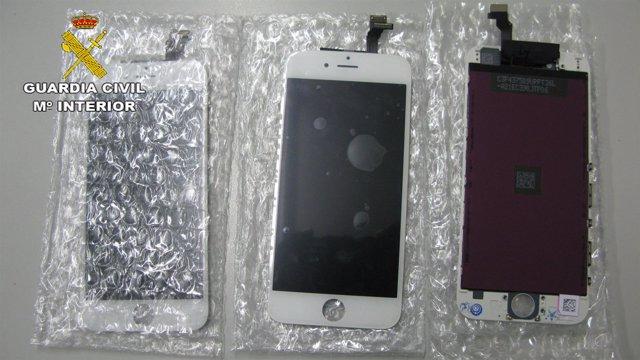 Material falsificado de telefonía móvil