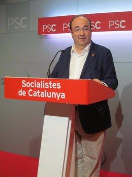 Candidato del PSC a la Presidencia de la Generalitat Miquel Iceta