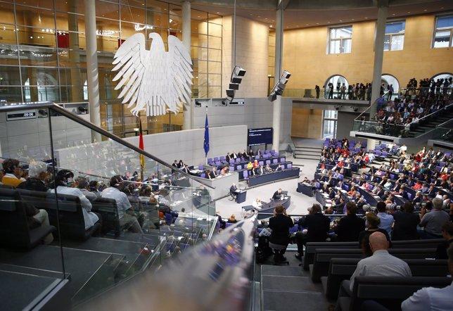 Schaeuble ante el Bundestag, Parlamento alemán