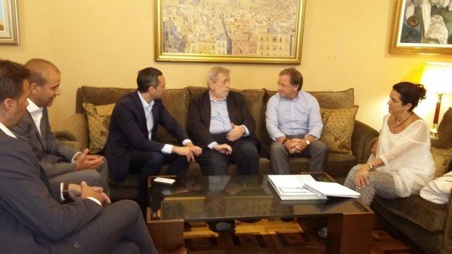 Reunión de César Sánchez con Beteta y Moragues