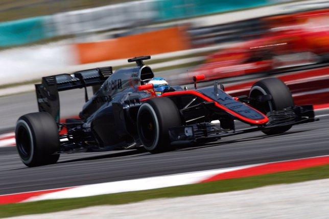 Fernando Alonso en competición con McLaren