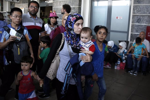 Inmigrantes sirios en Grecia