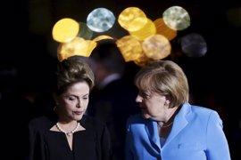 Rousseff sugiere a Merkel que Alemania invierta en infraestructuras brasileñas