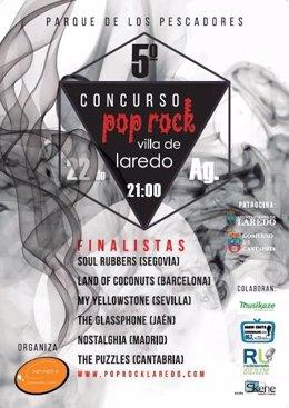 Cartel del concurso pop-rock 'Villa de Laredo'